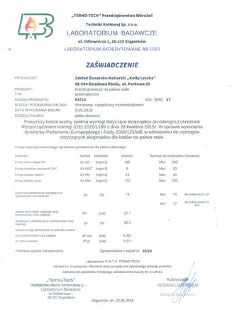 Kocioł c.o. na pellet KATLA 27 kW - 5 klasa EcoDesign (8)