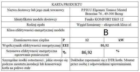 Kocioł c.o. FENIKS KOMFORT EKO 12 kW - 5 klasa EcoDesign (5)