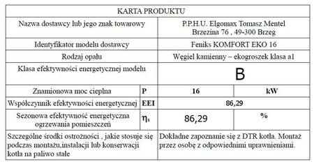 Kocioł c.o.FENIKS  KOMFORT EKO 16 kW - 5 klasa EcoDesign (11)