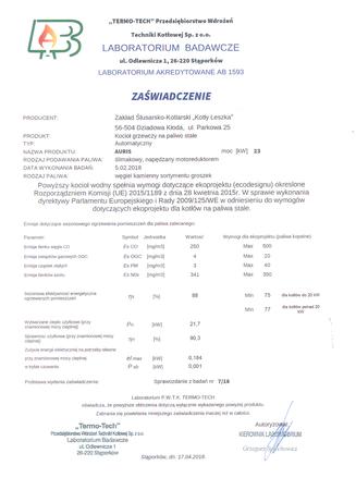 Kocioł c.o. na ekogroszek AURIS 23 kW - 5 klasa EcoDesign (8)