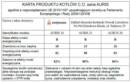 Kocioł c.o. na ekogroszek AURIS 23 kW - 5 klasa EcoDesign (9)