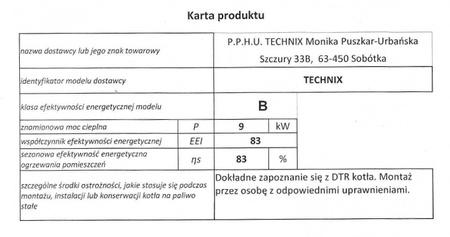 Kocioł c.o. TECHNIX 9 kW - 5 klasa EcoDesign (4)